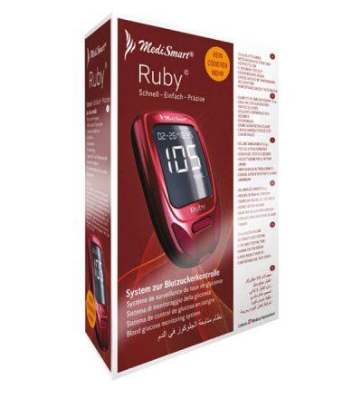 kutija aparata za merenje secera u krvi ruby