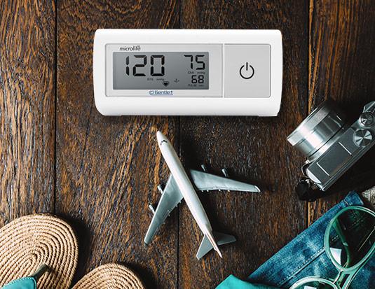 aparat za merenje pritiska namenjen za putovanja
